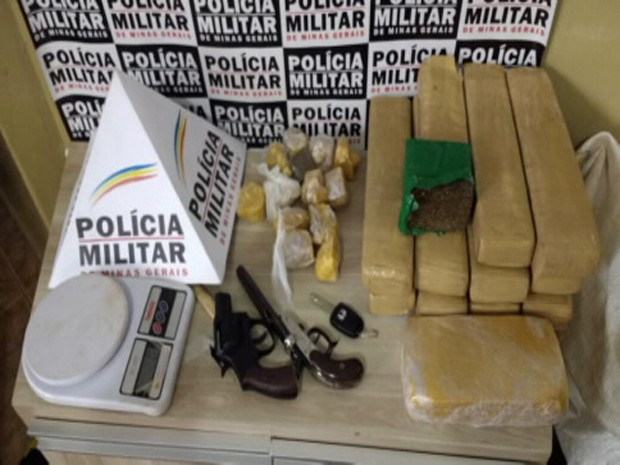 tráfico de drogas araxá (Foto: Polícia Militar/Divulgação)
