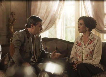 Celeste Hermínia descobre que pode ter doença grave, em 'Tempo de Amar'