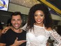 Juliana Alves recebe famosos no aniversário da Unidos da Tijuca
