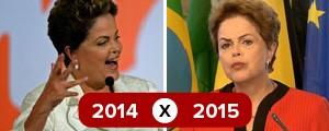 Veja mudanças nos discursos de Dilma em 2014 e 2015 (Evaristo Sá e TV Globo)