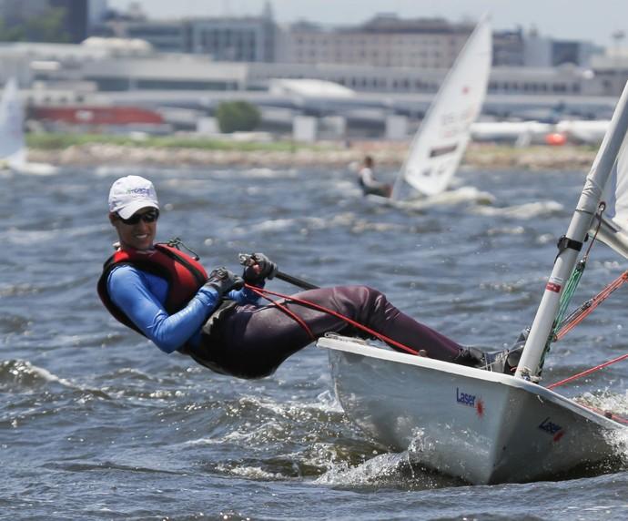 Odile Ginaid, velejadora capixaba (Foto: Divulgação/Crossmedia)