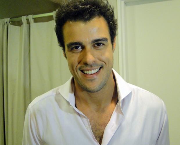 Joaquim Lopes dá dica para quem quer fazer comédia (Foto: Domingão do Faustão / TV Globo)