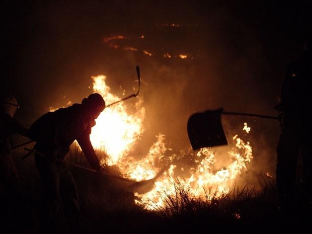 incêndio chapada diamantina bahia (Foto: Fabiana Carvalho/ Arquivo Pessoal)
