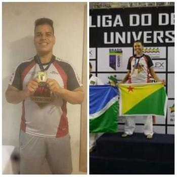 Philip Izidório e Taís Oliveira vencem Brasileiro Universitário de Taekwondo (Foto: Arquivo pessoal)