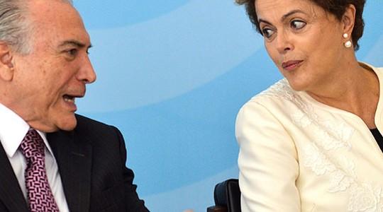 Michel Temer e Dilma Rousseff (Foto: José Cruz/Agência Brasil)