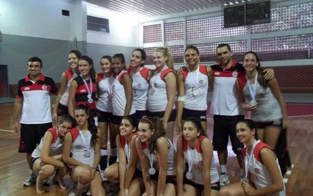 Luisa Fortes, Flamengo vôlei base (Foto: Arquivo Pessoal)