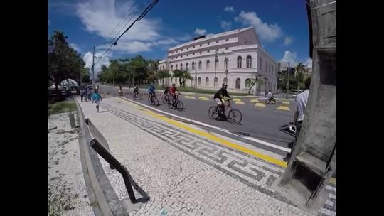 Ciclistas cobram segurança no dia da inauguração do Eixo Cicloviário no Recife
