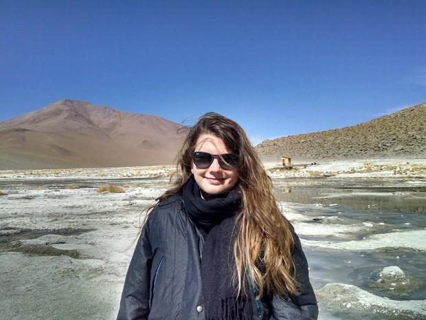 Compras feitas no cartão de crédito durante uma viagem ao Chile deixaram Karen preocupada com a alta do dólar (Foto: Arquivo Pessoal)