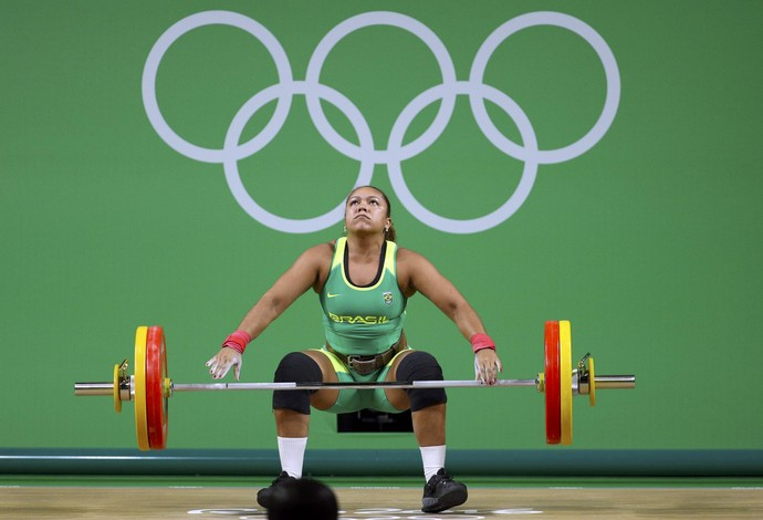 Jaqueline Ferreira; levantamento de peso; olimpíada 2016 (Foto: REUTERS/Stoyan Nenov)