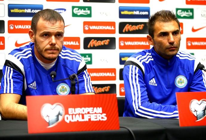 Pierangelo Manzaroli e Andy Selva, Coletiva San Marino (Foto: Getty Images)