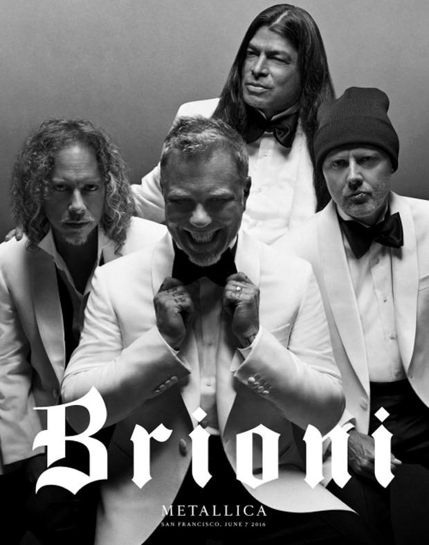 Metallica na campanha da Brioni (Foto: Divulgação/Zackery Michael)