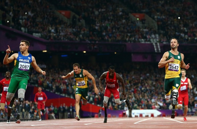 Alan Fonteles e Oscar Pistorius Paralimpíadas (Foto: Getty Images)
