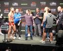 Thales Leites discute com Michael Bisping na pesagem do UFC Glasgow