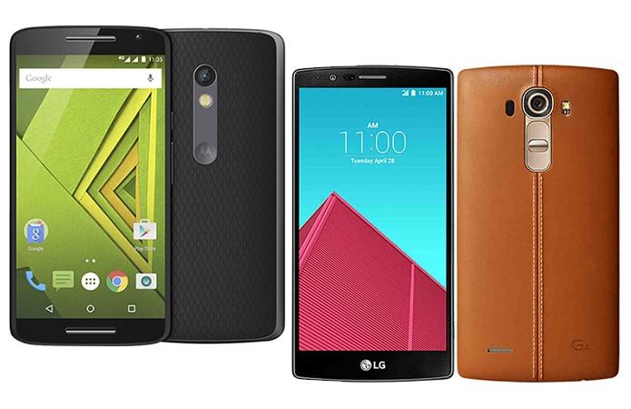 Moto X Play e LG G4 são dois dos principais concorrentes do Zenfone 2 (Foto: Divulgação)