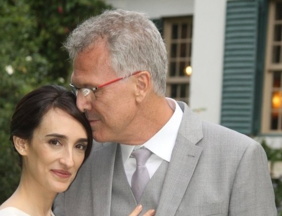 Maria Prata e Pedro Bial: casal sempre discreto, em breve nasce a primeira filha deles (Foto: reprodução)
