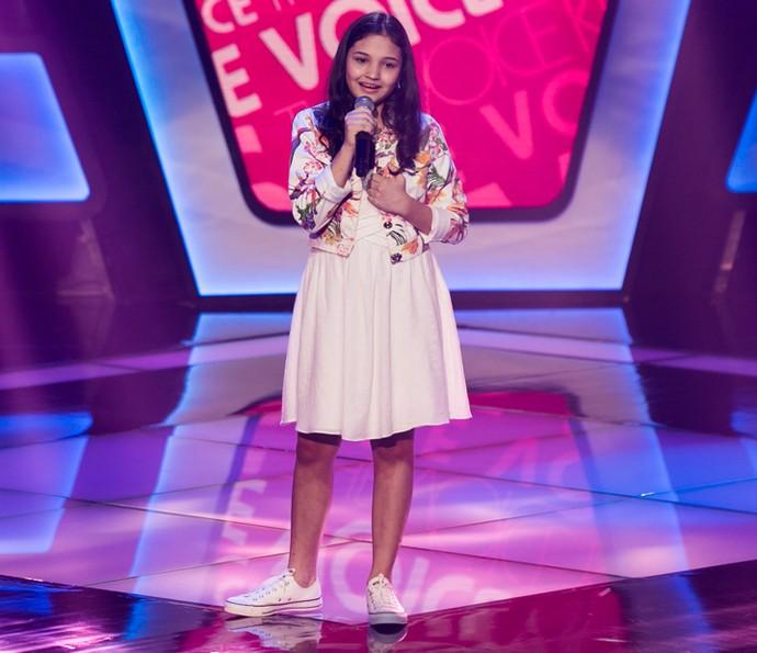 Ana Rosa canta 'Eu Só Queria Te Amar' nas Audições do The Voice Kids (Foto: Isabella Pinheiro/Gshow)