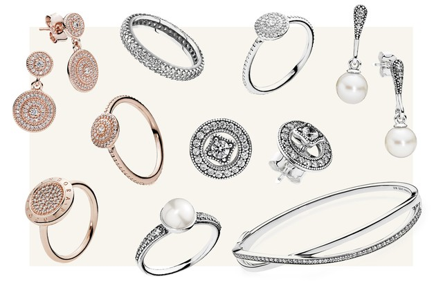Peças da linha Bridesmade, da Pandora (Foto: Arte Vogue Online)