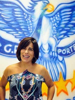 Atriz Glória Pires pensa em voltar a desfilar na Portela (Foto: Ricardo Almeida/ Portela/ Divulgação)