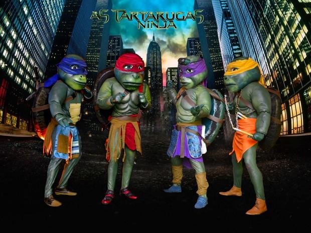 Tartarugas Ninja (Foto: Cia Mix da Alegria/Divulgação)