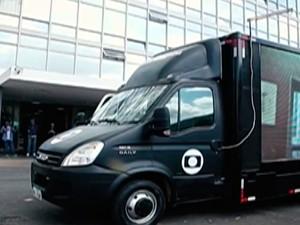 Caminhão Digital estará em Mogi nesta terça-feira para tirar dúvidas sobre desligamento do sinal analógico de TV (Foto: Reprodução/TV Diário)