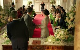 Conceição faz revelação no casamento de Nelita e Orlando