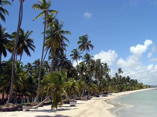 A praia dos Carneiros, 90 quilômetros ao sul de Recife (Foto: Think Stock)