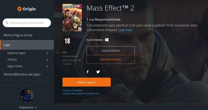 Mass Effect 2 é lançado de graça no Origin, saiba como baixar (Foto: Reprodução/Felipe Vinha)