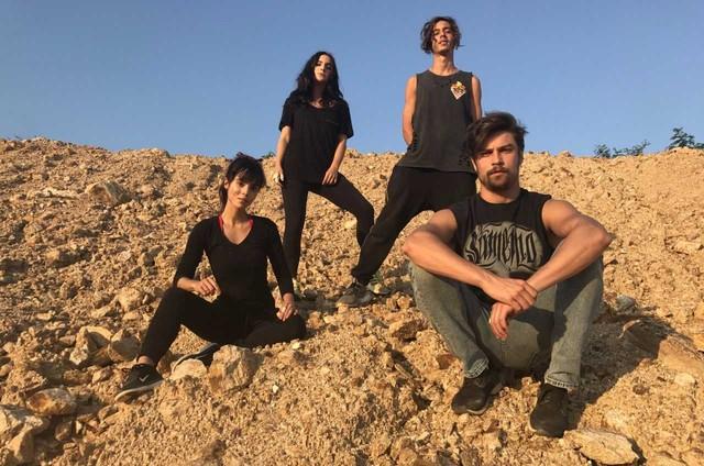Brenda Haddad, Yana Sardenberg, Guilherme Hamacek e Raphael Sander fazem preparação para 'O Apocalipse' (Foto: Divulgação)