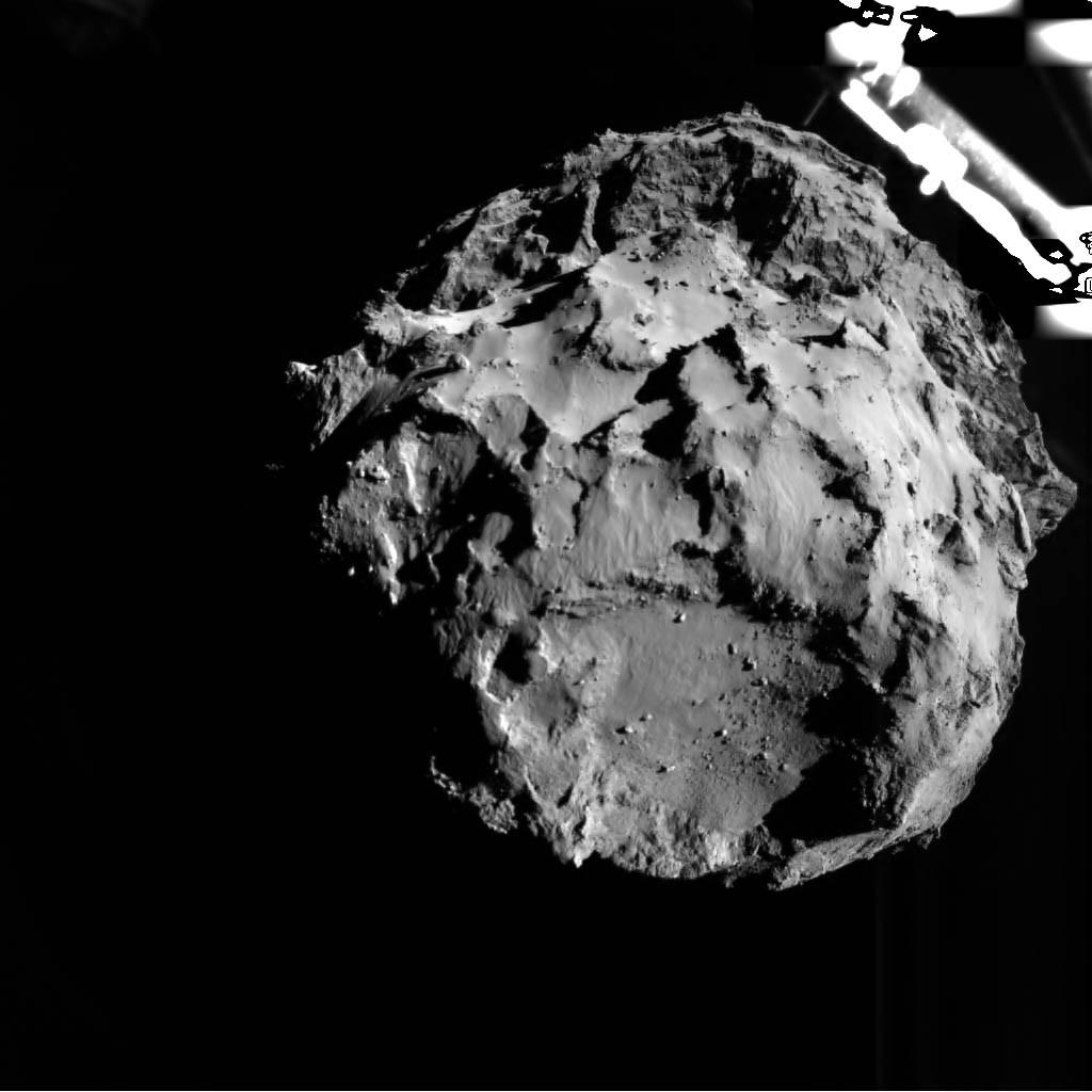 o cometa a 3,1 km de distância (Foto: reprodução - esa)