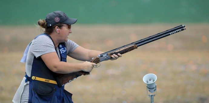 Kim Rhode compete no tiro nos Jogos (Foto: Sam Greenwood/Getty Images)