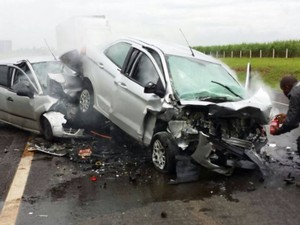 Casal morreu após acidente provocado por motorista bêbado em Araras (Foto: Reprodução/EPTV)