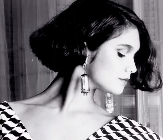 Nos tempos de modelo, Sandra Annenberg exibia um channelzinho básico (Foto: TV Globo)