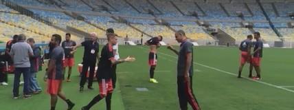 Flamengo se prepara para enfrentar Corinthians no retorno ao Maracanã (Tomás Hammes/GloboEsporte.com)