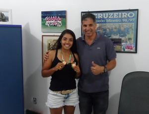 Larissa dos Santos levou o bronze na categoria K1-500m (Foto: Divulgação/Prefeitura de Angra dos Reis)