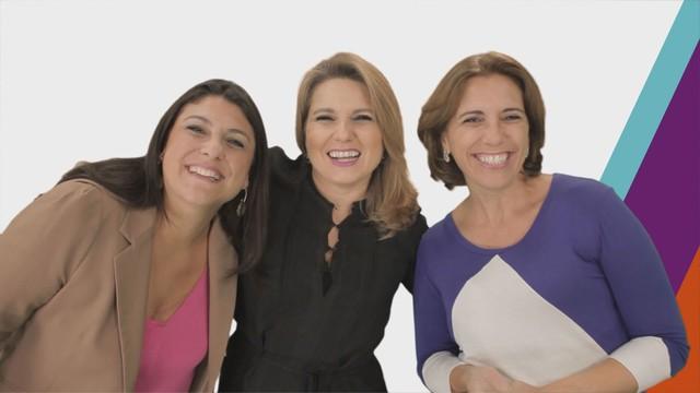 Janaina Hohne, Vanessa Faro e Rosana Valle (Foto: Reprodução/TV Tribuna)