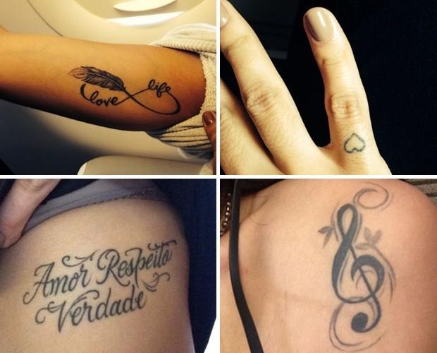 Tatuagens da cantora Anitta (Foto: Arquivo pessoal)
