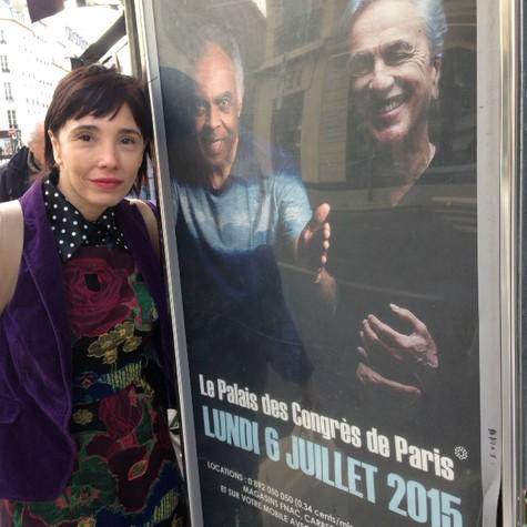 Rita Elmor em Paris (Foto: Arquivo pessoal)