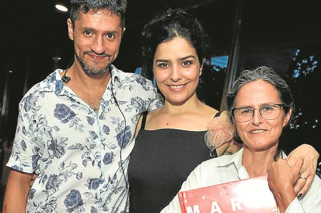Fernando Alves Pinto, Leticia Sabatella e Bia Lessa  (Foto: Cristina Granato)