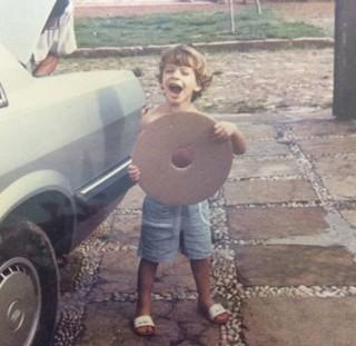 Flávio Meireles quando era criança (Foto: Arquivo pessoal)