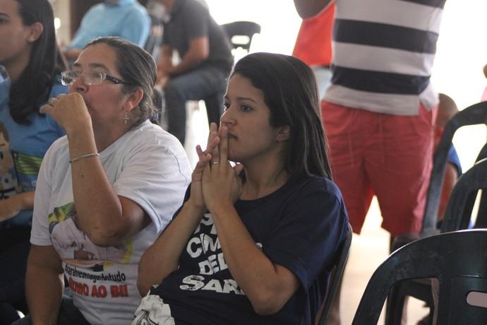 Torcida assiste em Teresina lutas da Sarah (Foto: Josiel Martins)
