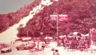 Antes pouco visitada, Ponta Negra se tornou um dos cartões postais da cidade (Foto: Reprodução/Documentário)