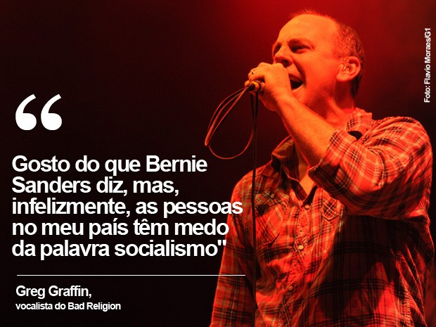 Greg Graffin, do Bad Religion (Foto: Flavio Moraes/G1)