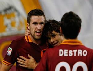Strootman, Dodo e Mattia Destro gol Roma (Foto: Reuters)
