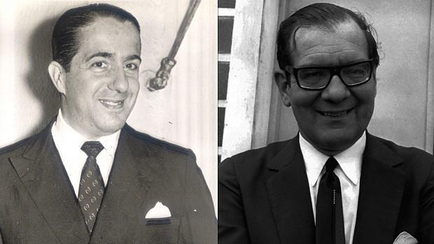 Walther Moreira Salles e Olavo Setubal (Foto: Espaço Memória Itaú Unibanco e Editora Globo)