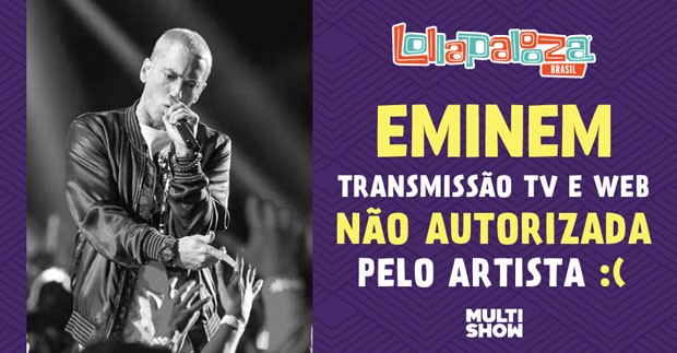 Eminem - transmisso no autorizada (Foto: Multishow)