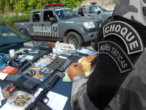 Ação dos policiais se deu na manhã desta quinta-feira (31) (Foto: Jorge Talmon/Inter TV Cabugi)