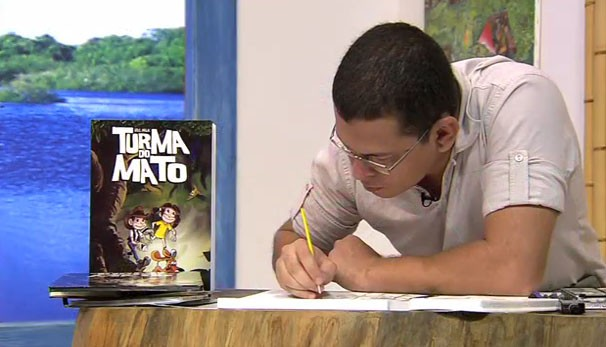 Ric Milk é desenhista apaixonado pelo mundo dos quadrinhos, não perca, é neste sábado (23) (Foto: TVCA)