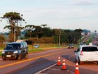 Obras interditam trecho da BR-277 em Cascavel neste domingo