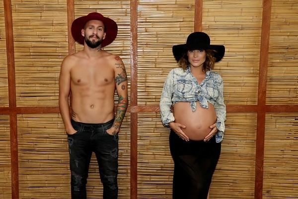 O casal fez um ensaio em homenagem ao primeiro filho Gael  (Foto: Priscila Maziero)