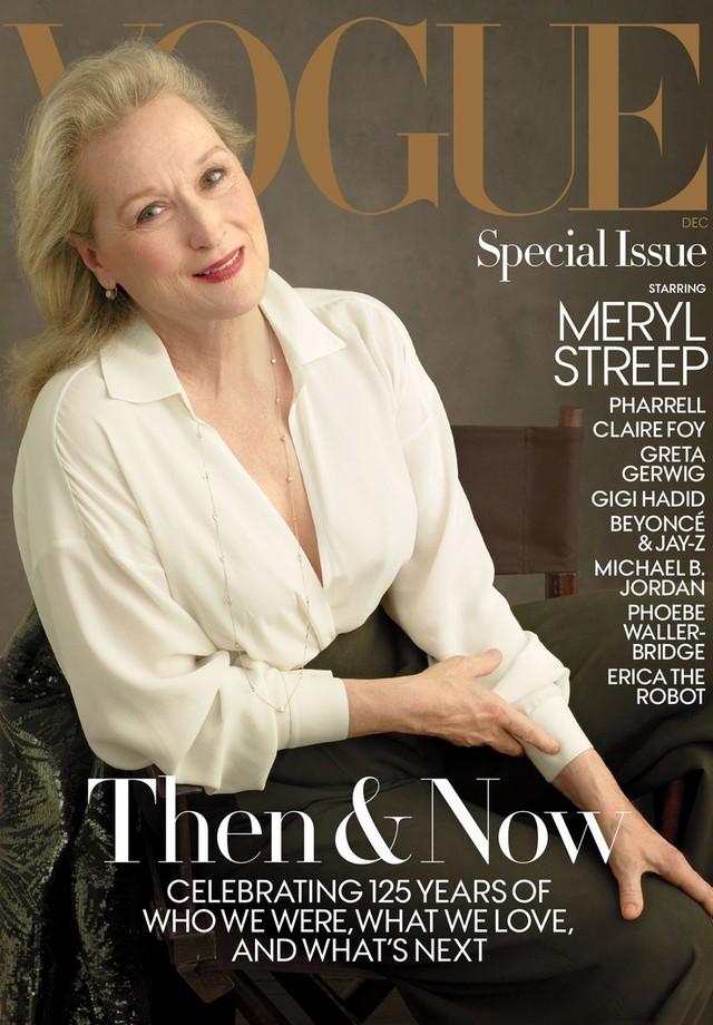Meryl Streep na capa de dezembro de 2017 da Vogue América (Foto: Anne Leibovitz)